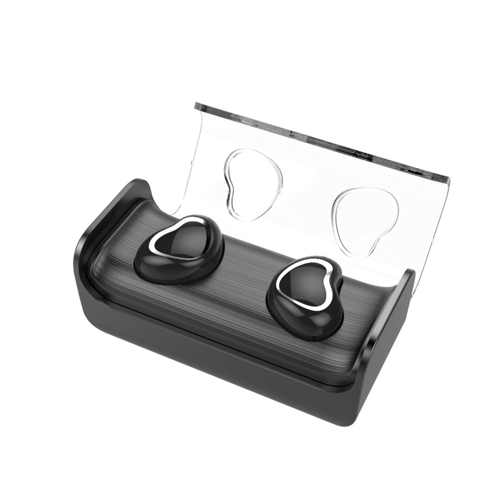TWS Business Bluetooth headset Wireless 3D Stereo headset and Power set Magnetic charging Box Hi Fi Music headset with microphon
