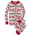 2-14 T Pijamas Ropa de los Cabritos Algodón Deer Imprimir Muchachos de Los Bebés de Navidad Pijamas Set de Manga Larga ropa de Dormir ropa de dormir Trajes