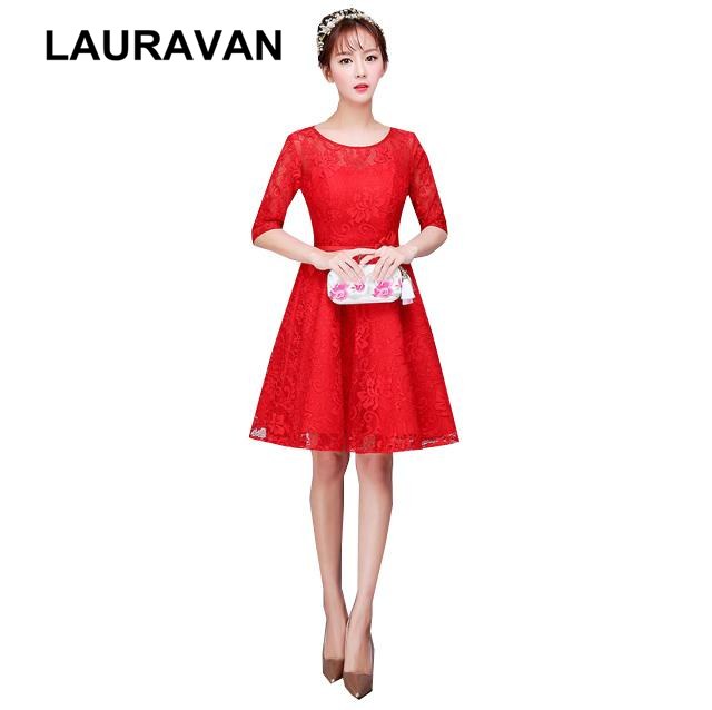 robe sexy soiree woman elegant vintage princesse red half sleeved prom dress short formal ball gown gowns dresses to party