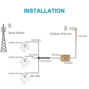Image 5 - Répéteur ATNJ double bande 2G 3G 4G amplificateur de téléphone portable 1800/2100mhz booster de signal avec écran LCD comprend 3 antennes intérieures