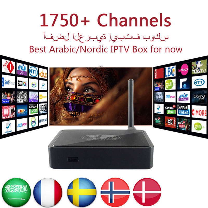 MAG254 IPTV Box Royal IPTV Arabic Swedish French Europe UK IPTV 1800 Channels Linux 2.6.23 STiH207 MAG 254 Stalkers Set Top Box