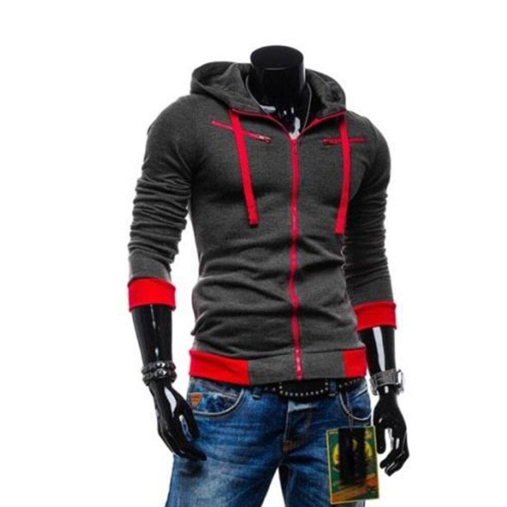 Plus size hoodies men solid color slim tops male long sleeves pullover sweathirts for mens zipper hoodied jacket hoodie coat