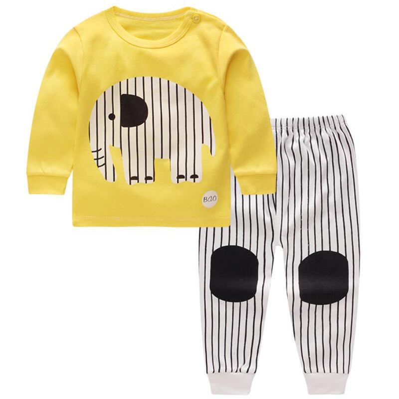 Baby Pajamas Toddlers Pjs Boys Clothing Outfits Sport Suit Children Clothing Set Baby Boy Clothes Winter Kids Clothes 2 3 years лонгслив синий hugo boss ут 00007186