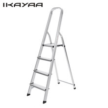 iKayaa US Stock Folding Aluminum Ladders 4 Step Ladder With Hand Grip Work Platform Step Stool 330LB/150KG Capacity EN131(China)