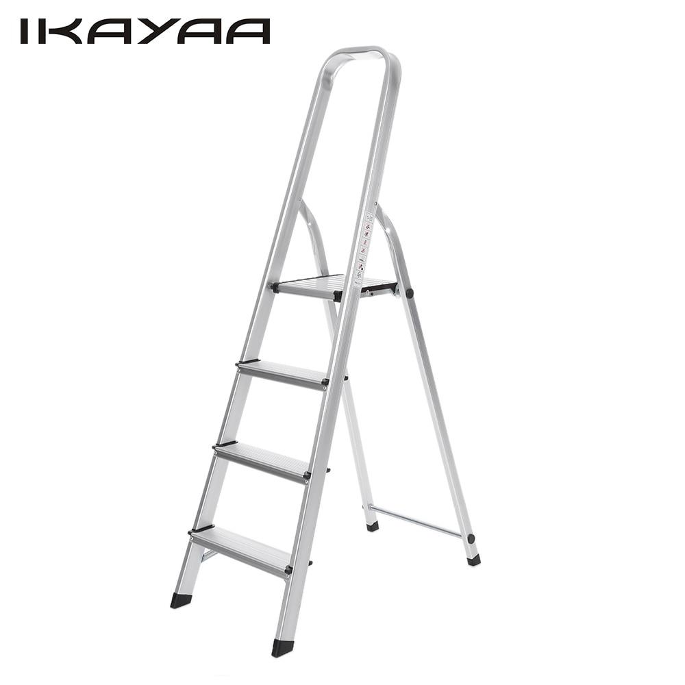 Ikayaa Us Stock Folding Aluminum Ladders 4 Step Ladder