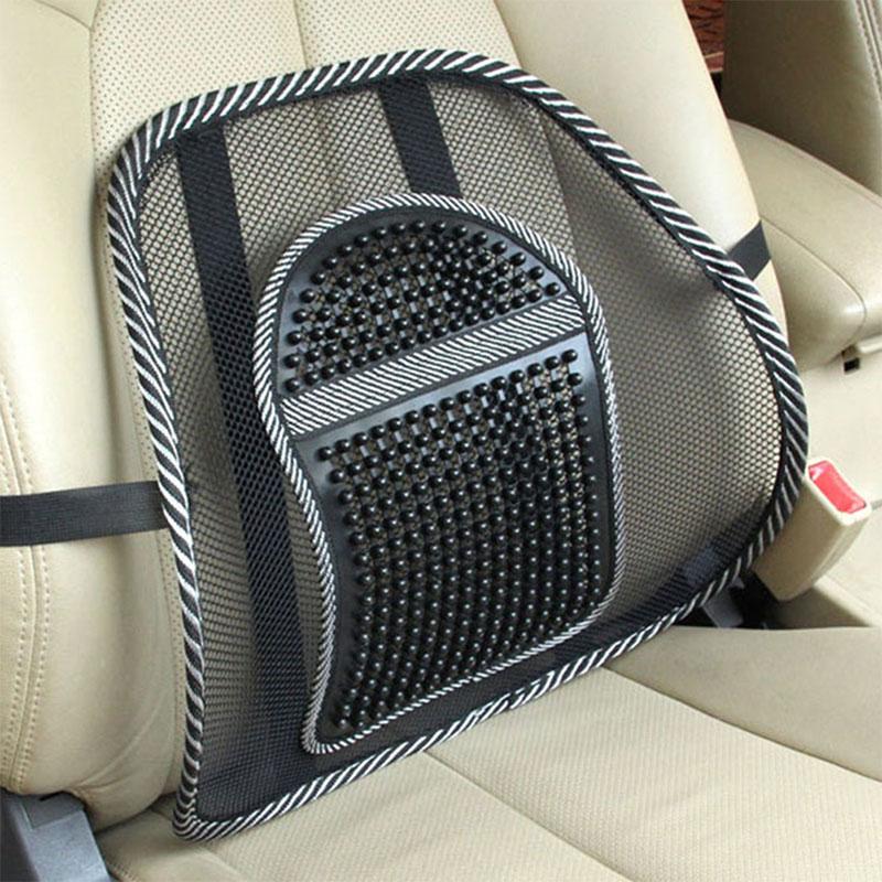 Car Seat Office Chair Massage Back Lumbar Support Mesh Ventilate Cushion Pad Black,Mesh Back Lumbar Cushion For Car Driver