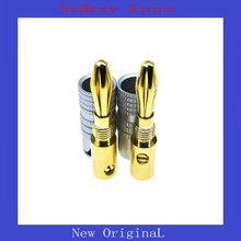 лучшая цена 1Pair=2PCS Gold-Plated Audio Nakamichi Speaker Banana plug connectors