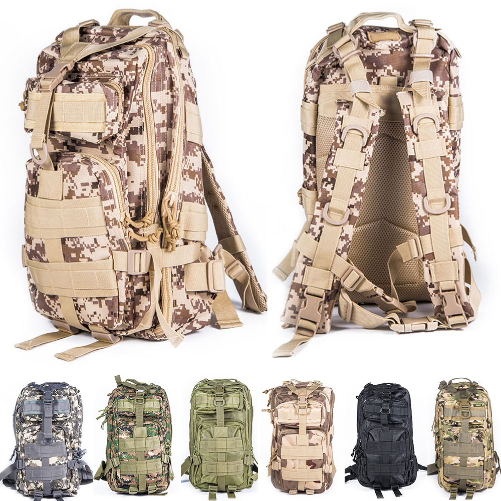 ФОТО Military Tactical Molle Rucksack Travel Backpack Outdoor Sports Camping Hiking Survival Pack Camouflage Airsoft Hunting Bag