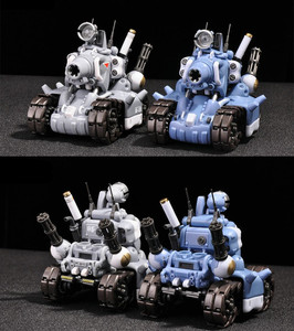 Image 5 - YH Metal Slug Super pojazd SV 001 model zbiornika ruchoma struktura wewnętrzna niebieski lub szary