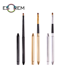 ESOREM Portable Makeup Brushes Synthetic Detachable Slim Metal Handle Lip Brush Soft Pencil Shader Pinceaux Maquillage X718