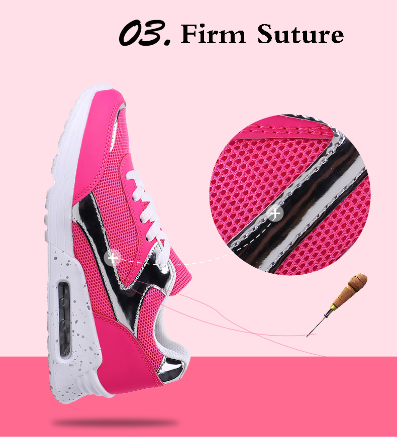 Air Mesh Women Casual Shoes Fashion Lace Up Shallow Shoes Woman Flat Heel Sport Trainers Size 35-40 Quality Walking Shoes ZD30 (6)