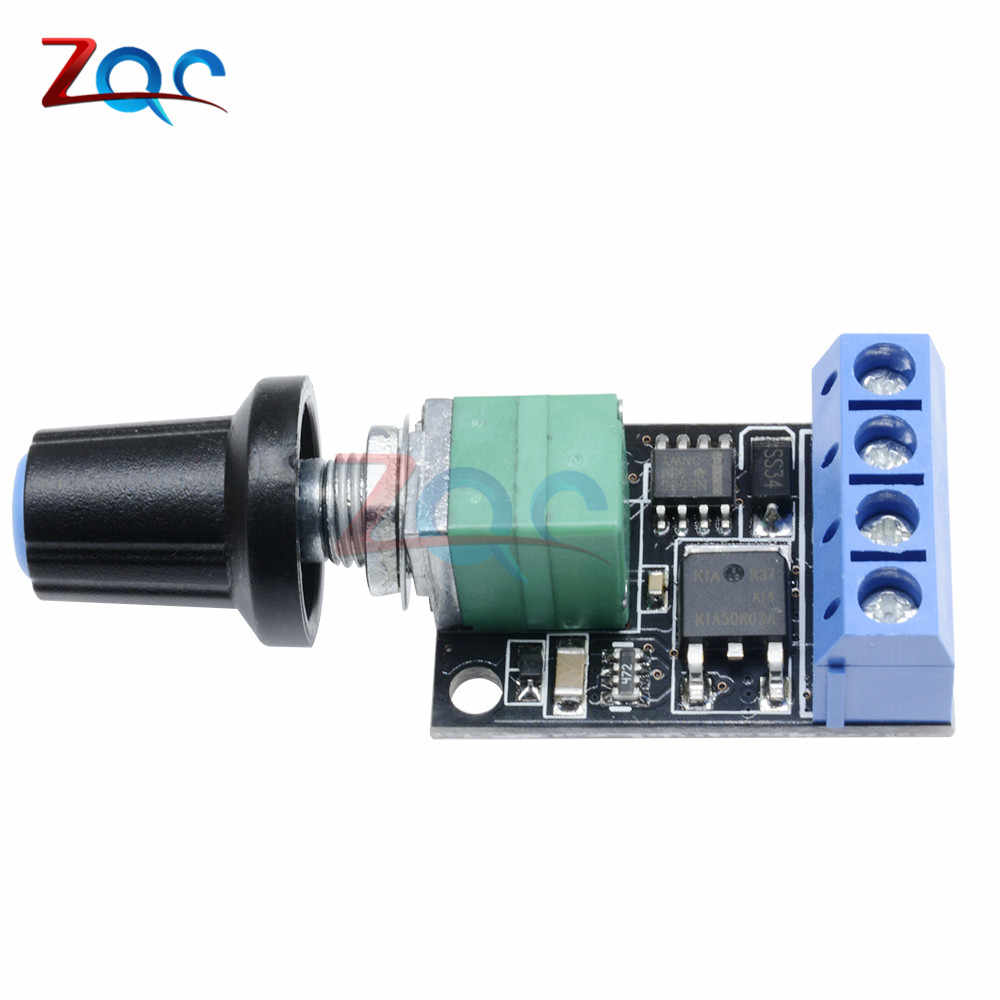 Регулятор скорости вращения двигателя постоянного тока потенциометр регулятора PWM регулирования доска регулируемого светодиодного освещения 10A 5 V-16 V Высокая линейность переключатель диапазонов модуль