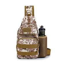 Military Training Chest Pack Bag  Shoulder Bag Crossbody Daypack for Outdoor Travel Trekking Camping Hiking with Kettle Pocket