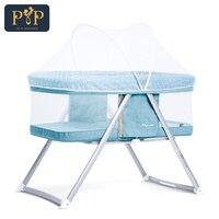 Портативный детская кровать младенческой Путешествия складной детской кроватки дышащая детская кровать детские кроватки для новорожденн