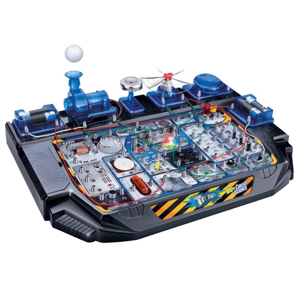 100 en 1 blocs d'apprentissage de Circuit électrique bricolage physique expérience jeu Science jouets éducatifs cadeau d'anniversaire pour les enfants