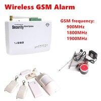 ה-SIM האלחוטי אזעקת GSM הגנה עצמית חיצוני בית פורץ אבטחת מערכות אזעקת דלת כניסת התראת אזעקה קולית מעורר רוסי ערכת