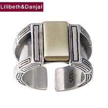 Anneau douverture 100% en argent Sterling 925, bijoux pour hommes, créativité Vintage, anneau ajustable, nouveauté FR105