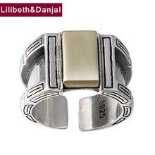 Opening Ring 100% Echt 925 Sterling Zilveren Sieraden Voor Mannen Creativiteit Vintage Verstelbare Ring Nieuwe Collectie FR105