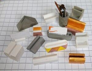 Цементная силиконовая форма для визитных карточек, держатель ручки, гипсовая форма ручной работы