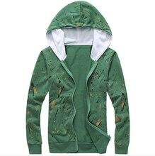 TFGS Mens Floral Hoodie Jacket Coat Fashion Flower Printed Tracksuit Hoodies Full Sleeve Male Hip Hop Sweatshirts 4 Colors M-3XL