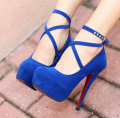 Women Black Ankle Strap Heels latest Ladies Platform Shoes High Heel High Quality Italian Shoes Women Black Ankle Strap Heels
