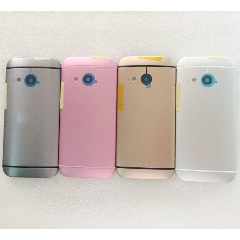 imágenes para 100% Nueva Puerta de La Batería Contraportada Caso de Vivienda Para HTC Uno Mini 2 M8 Mini Con Botones de Volumen de Energía