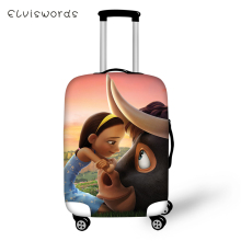 ELVISWORDS Suitcase Protective Cover Ferdinand Prints Pattern Elastic Dust-proof Cartoon Design Travel Luggage Accessories