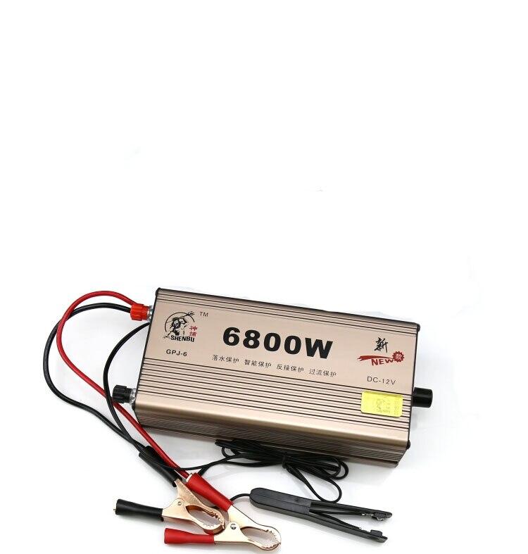 6800 W onduleur transformateur 12 V haute puissance onduleur batterie complète Booster convertisseur