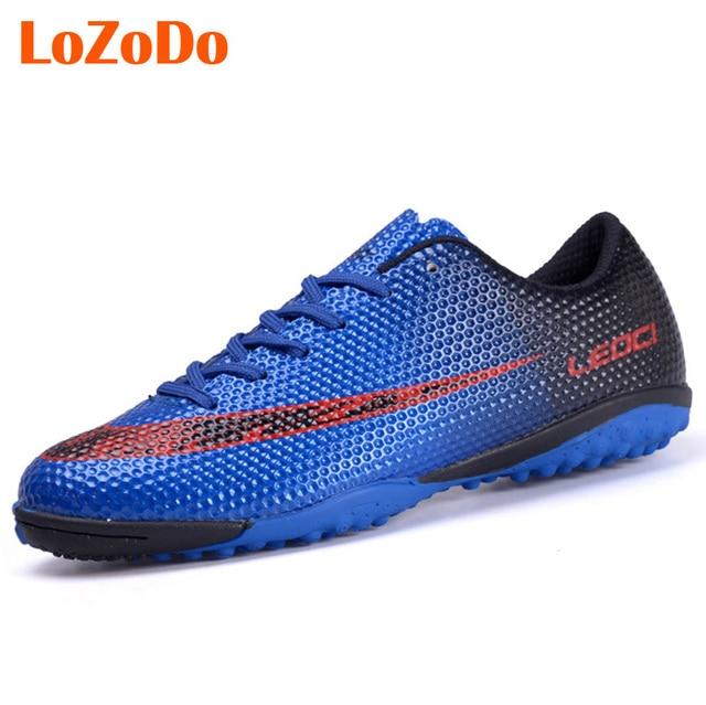 Novo Menino Crianças Homens Chuteiras de futebol Shoes Turf Futebol Botas  Sapatos de Futebol Quadra Dura 45d28601839be