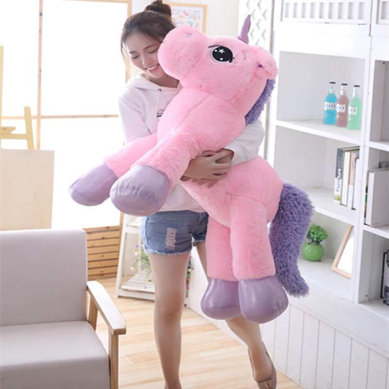 Online Shop New Plush Pink Unicorn Toy Cute Large Lying&Standing Animal Doll Kids Appease Toys Sofa Sleeping Pillow Christmas Gift Children | Aliexpress Mobile