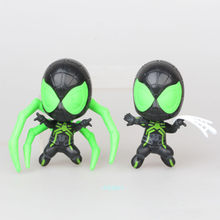 2 pçs/set Spider-Man: longe de Casa Q Versão do Homem-Aranha Batman Superhero PVC Action Figure Collectible Modelo Toy OPP 9 CM Z602(China)