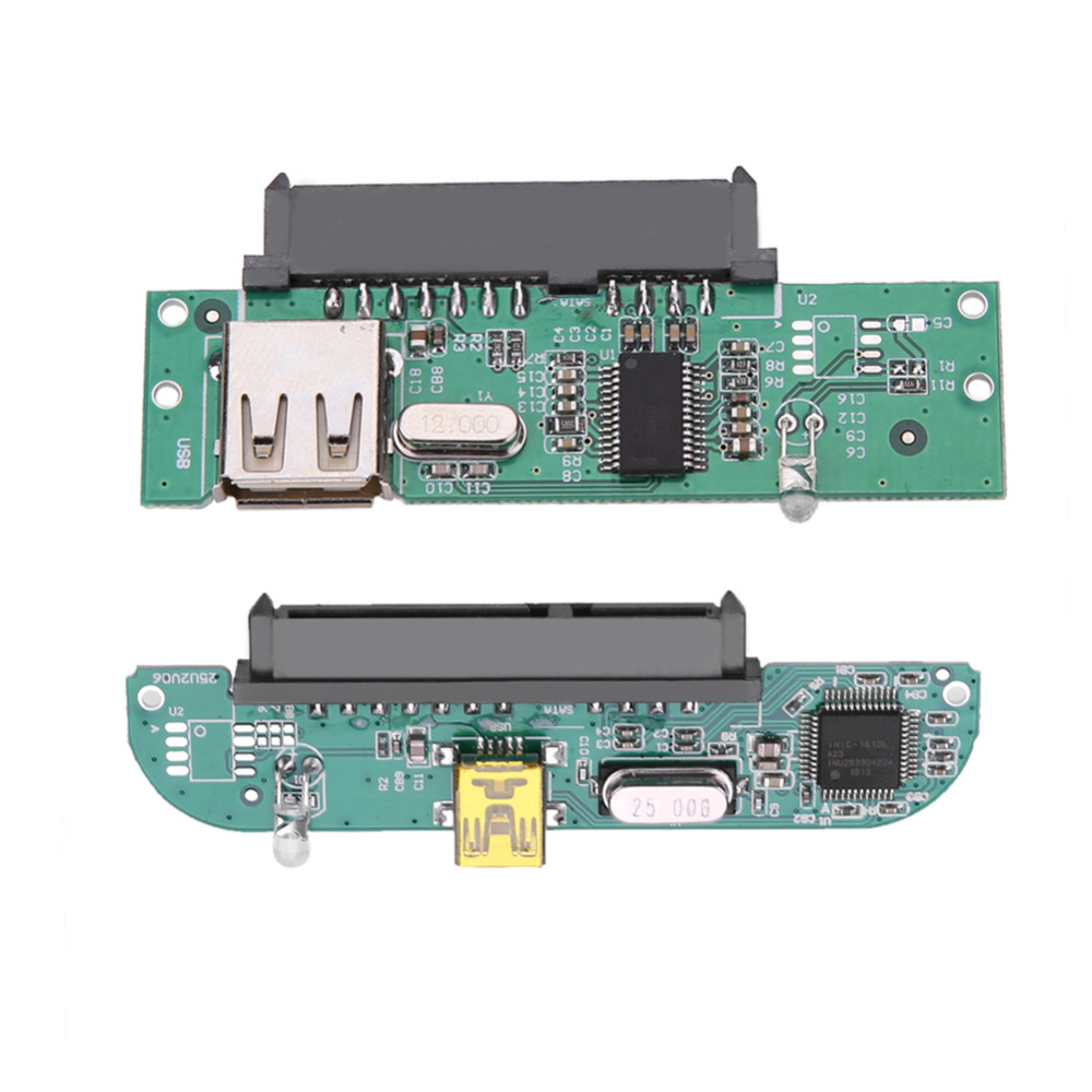 2.5inch USB 2.0 TO SATA 7 + 15 Pin Hard Disk Adapter Converter For 2.5