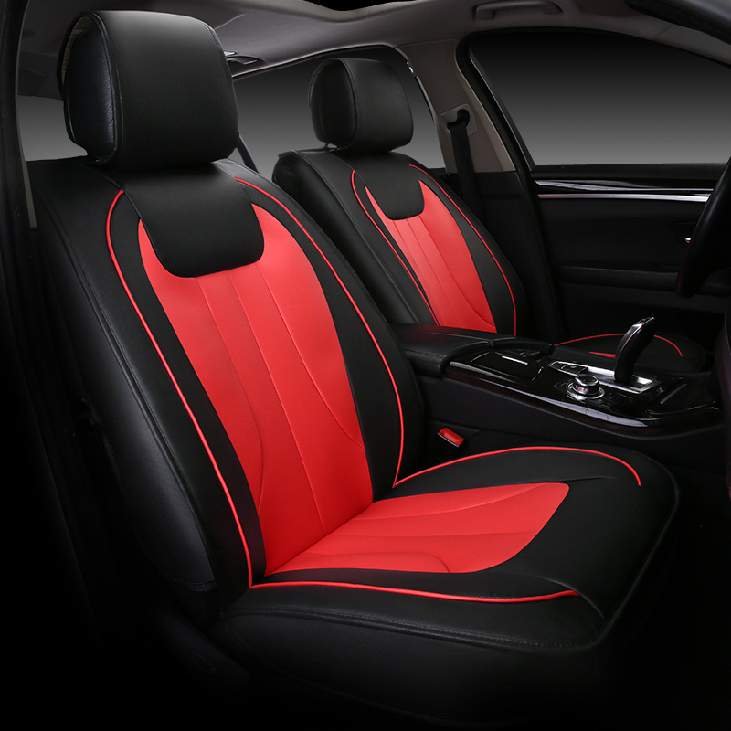 luxury leather car seat cover universal seat covers for toyota corolla rav4 highlander prado. Black Bedroom Furniture Sets. Home Design Ideas