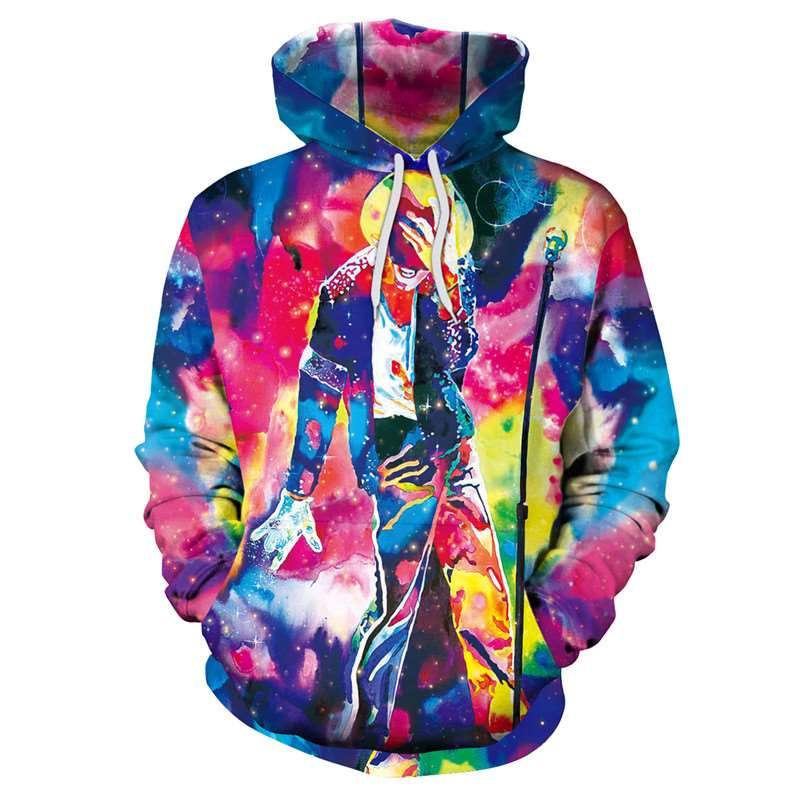 Raisevern Michael Jackson Fashion 3D Hoodies Steetwear Hooded Outwear Colorful Cool Sweatshirts Pullovers For Men/Women Dropship