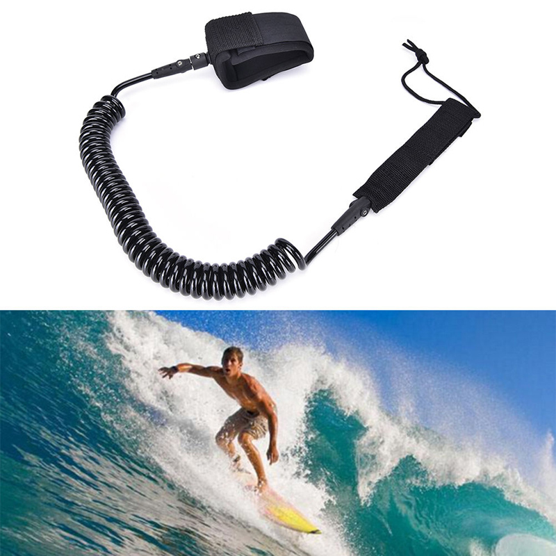 Rowing Boats Coiled Board Paddle Surf Board Leg Leash Rope For Board Surfboard Stand Up Paddle Board Rope Surfing Accessory
