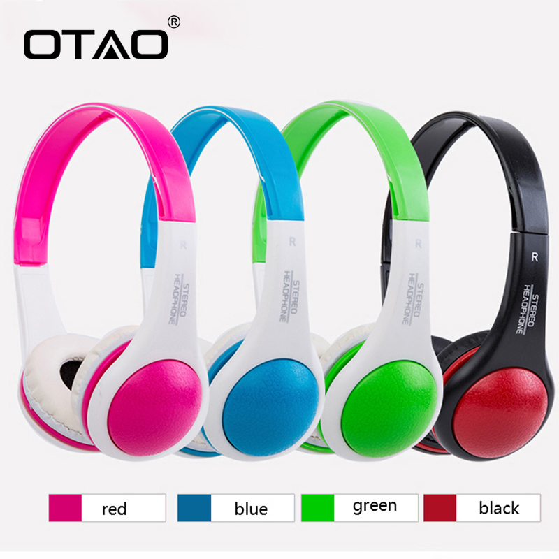 OTAO Weird Children Headphones Colorful 3.5mm Line Type Stereo Sport Earphones For Smartphone Kid Headset For MP4 цена