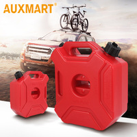 Auxmart 3L 5L Fuel Tank Cans Spare Plastic Petrol Tanks Mount Motorcycle/Car Jerrycan Gas Can Gasoline Oil Container Fuel jugs