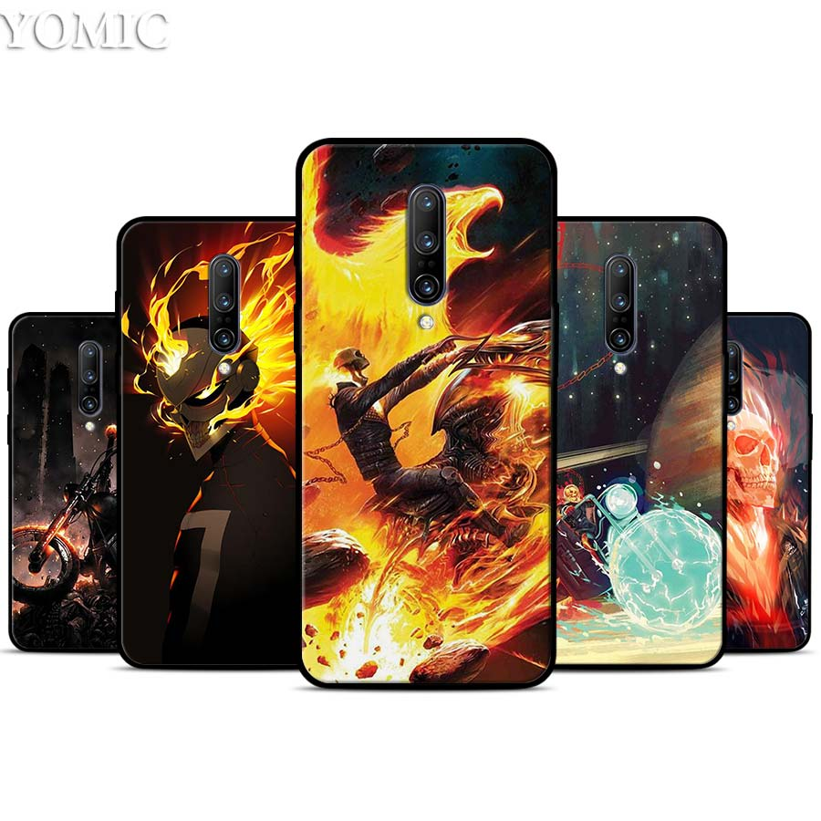 Ghost Rider Silicone Case for font b Oneplus b font font b 7 b font 7Pro