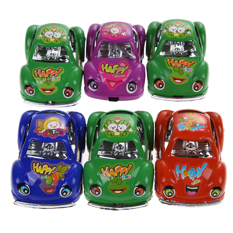 6 pcs pull back cars kids funny toy children toy mini small pull back car vehicle green red blue purple