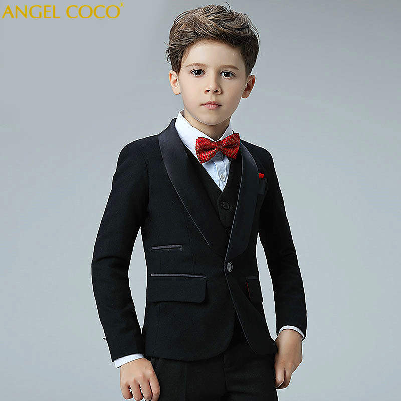 0548ea4a1 5 Piece 2018 New Boy Flower Girl Wedding Suit Korean Boys Prom Suits ...