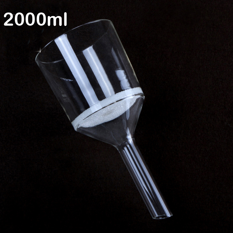 2000ml acidproof suction filtration Bacterial Sand core funnel G1 G2 G3 G4 G5 free shipping цена