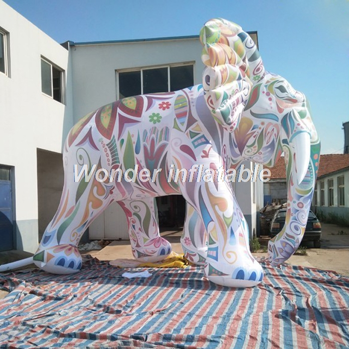 Most popular customized large colorful inflatable elephant model for advertising in Party DIY Decorations from Home Garden