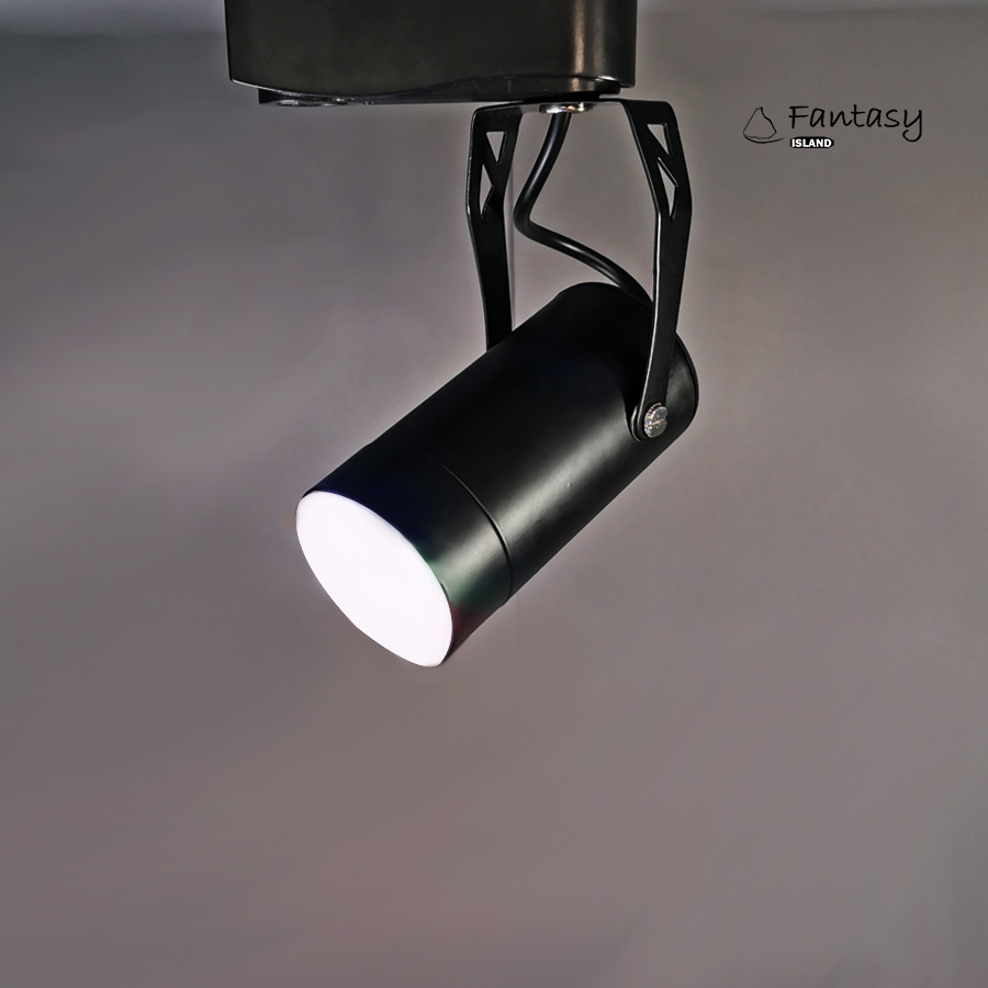Fantasy Island LED COB Track light 7 Colorful Gradient+Remote Control Black Lighting Dimmable For Living Room Exhibition