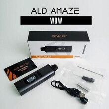 Original ald amaze kit 1800mah built in bateria ervas erva seca vaporizador vape caneta portátil tudo em um kit de cigarro eletrônico