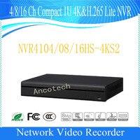 Бесплатная доставка DAHUA 4/8/16 канала Компактный 1U 4 K и H.265 Lite NVR DHI NVR4104HS 4KS2/DHI NVR4108HS 4KS2/DHI NVR4116HS 4KS2