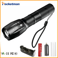 Lanterna CREE XM L T6 4000LM Tactical Flashlight Torch Zoom Linternas LED Flashlight For 3xAAAor 18650
