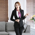 Formal Fashion Women Blazers and Jackets Black Coat Elegant Slim Ladies Business Clothes Office Uniform Style