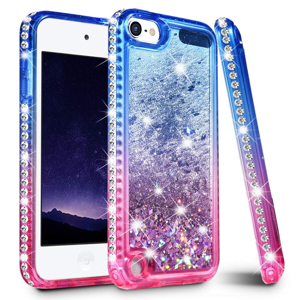 premium selection 3f0ec b6f36 US $4.74 5% OFF|Gradient Quicksand Phone Cases for iPod touch 5 6 Glitter  Liquid Bling Diamond Protective Cover for iPod touch Girls Cute Cases-in ...