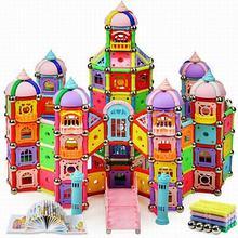 918pcs/Set Magnetic Designer Construction Model Building Toy Plastic Magnetic Stick Blocks Educational Toys For Kids Gift
