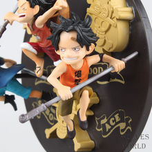 3pcs/lot Action Figure New Zero 10cm PVC ONE PIECE Anime Toy Sabo ACE Luffy Childhood Collectible Model Toy free shipping